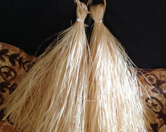 """14"""" Long Tahitian And Cook Island Hau I'i's Or Hand Tassels. Measured Without The Handle.. CHOOSE ANY COLOR Of I'is/Hand Tassels"""