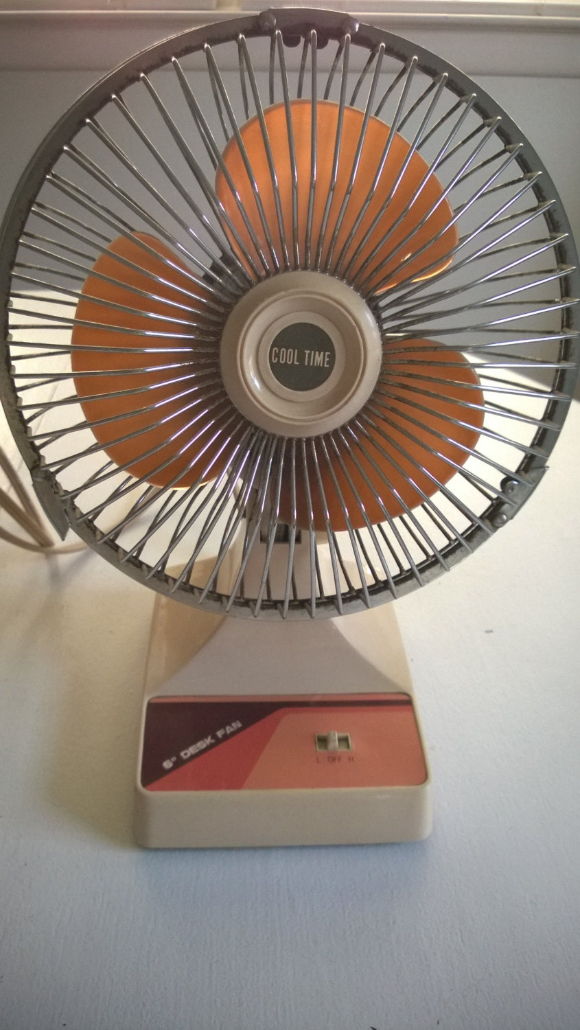 6 Inch Desk Fan : Retro desk fan decor inch