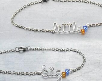 Sorority Big Little Sister Bracelet Set • Birthstone Bangle • Sorority Gift Jewelry • Big Little Reveal • Big Little Sister Gifts