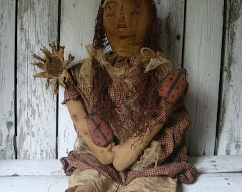 Primitive Raggedy Annie Doll