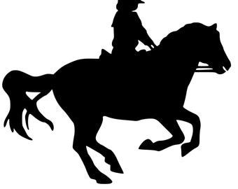 Horse sticker-Horse English rider 6-Horse decal-Vinyl wall sticker-31 X 25 inches,768-HS