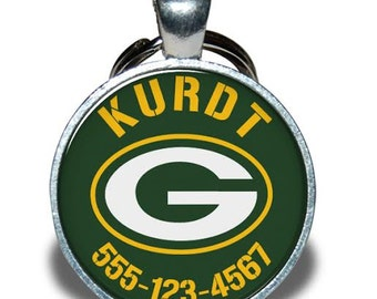 Pet ID Tag - Wisconsin Green Bay Packers *Inspired* - Dog tag, Cat Tag, Pet Tag
