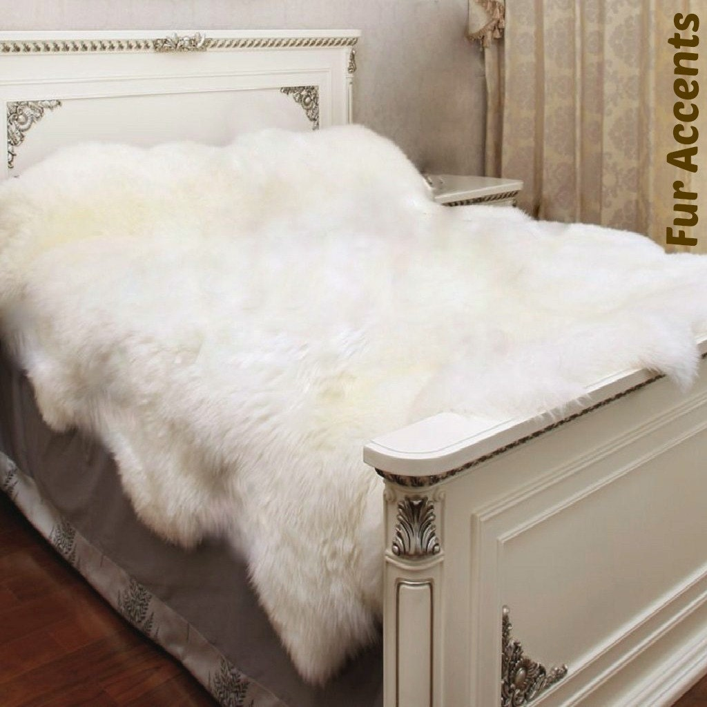 White Plush Bed Covers