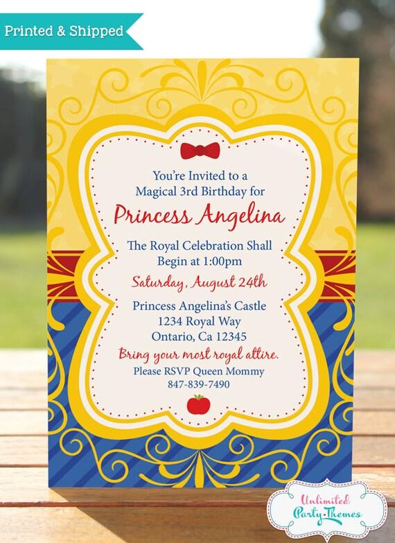 princess snow white birthday invitation    by unlimitedpartythemes
