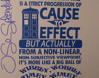 Doctor Who Inspired Large Wall Vinyl Decal    Part 37