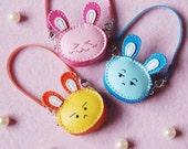 Lati Yellow/ Pukifee - Handmade - Mini Leather Rabbit Bag - Three Color