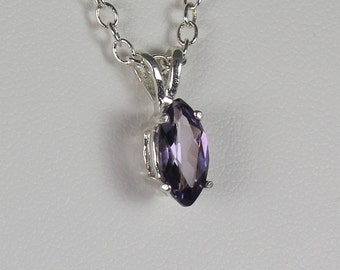Color - Changing Alexandrite Pendant / Necklace Sterling Silver June Birthstone