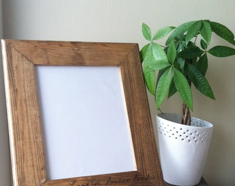 Picture Frame with Custom Wood Burned Handwriting - 8x10