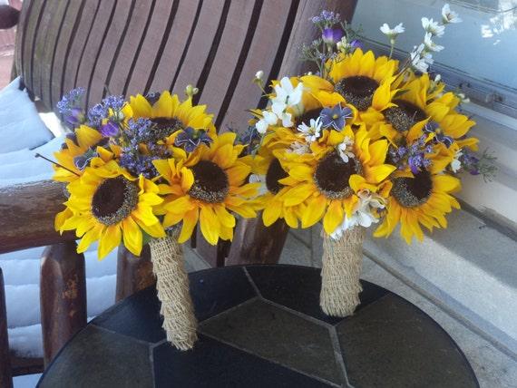 12 pc sonnenblumen und lila blumen rustikale hochzeit. Black Bedroom Furniture Sets. Home Design Ideas
