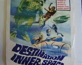 Original // Atomic 60s Movie Poster // Destination Inner Space // Sci Fi