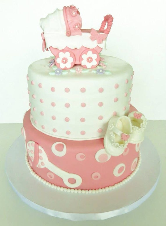 Cake With Pram Topper