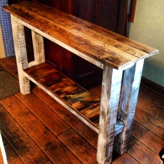 Console Table/CUSTOM ORDER TABLE///muted Colors Or Rustic Sofa