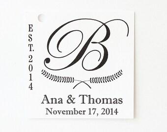 Custom Wedding Favor Tags, Personalized Tag, Favor Tag, Square Wedding Tag, Kraft Wedding Tag, Paper Tag, White Wedding Tag, Gift Tag