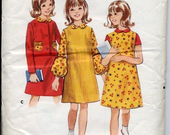 Vintage Pattern - Girl's Jumper and Jacket - Size 12, ca 1960s