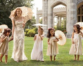 Mini Paper Parasol - Children's Parasol - Wedding Decor, Photo Prop, Decorative Paper Parasol, Event Decor, Wedding Accessories