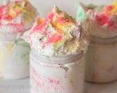 Fluffy Whipped Soap Sugar Scrub - Rock Candy 4 oz. Vegan