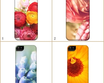 FLORAL - Smartphone Case - for iPhone iPod  Samsung Blackberry HTC - Flowers Spring Nature Photography Fine Art Vintage Pink Yellow Blue