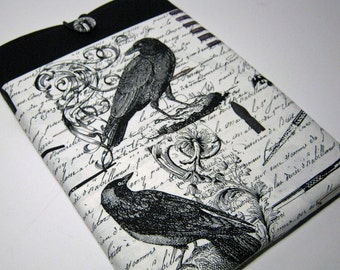 Macbook Air Sleeve, Macbook Air Cover, 13 inch Macbook Air Cover, 13 inch Macbook Air Case, Laptop Sleeve, Black Birds