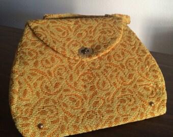 Vintage Carpet Bag, Purse, Handbag