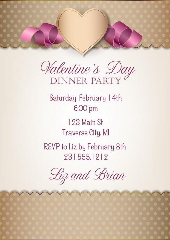 Valentine day dinner party startupcorner items similar to valentines invitation valentines day dinner ideas stopboris Images