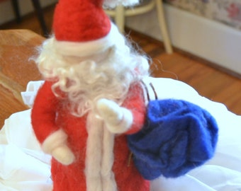 Waldorf Inspired Needle Felted Santa Claus made to order