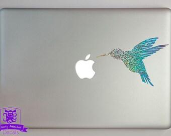 Hummingbird in Flight Macbook Laptop Decal