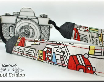 Urban  - Camera strap, DSLR, camerastrap, photographie, comic, white, colorful