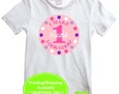 Personalized Pink and Purple Birthday Iron On - Polka Dot Iron On - Birthday Transfer - Digital and Printed Available