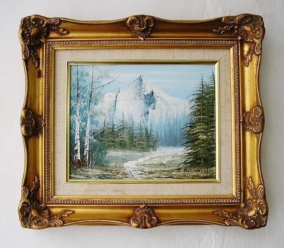 K Bowman Original English Oil Painting Plein Air Landscape