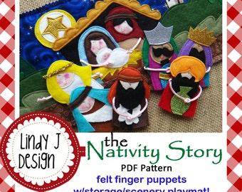 The NATIVITY Story Felt Finger Puppets Sewing Pattern – PDF ePATTERN