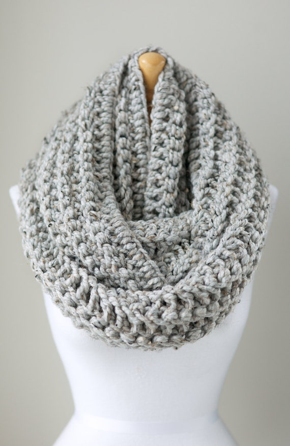 Knitting Patterns For Big Scarves : Chunky crochet scarf oversized infinity scarf by PikaPikaCreative