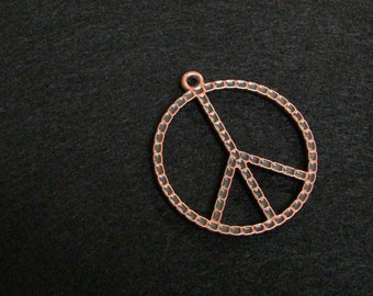 Copper Peace Sign Pendant