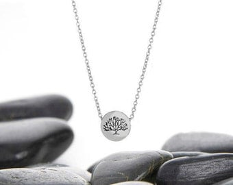 Tree of Life Sterling Silver Necklace, Tree Charm, Tree of Life Charm, Tree of Life Necklace, Tree Necklace, Silver Tree, JIN246SSS