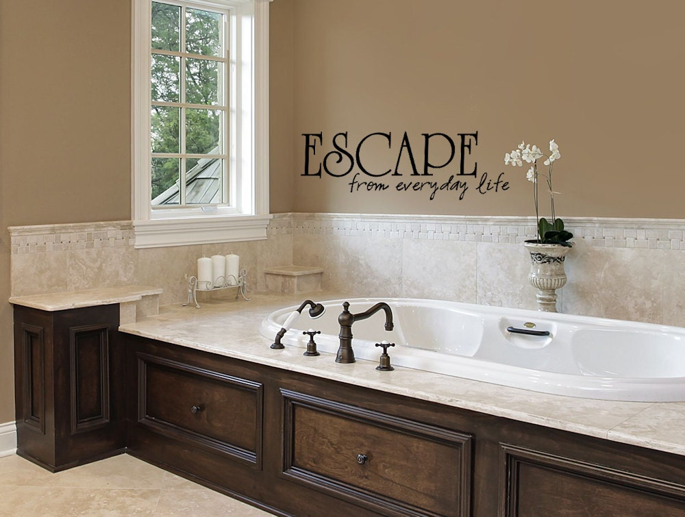 Bathroom Decor Wall Sticker Bathtub Escape Bathroom Wall