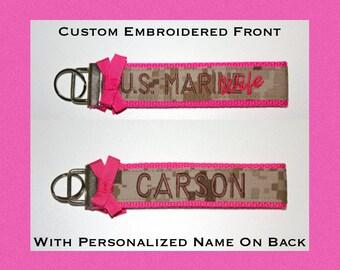 Custom Marines Premium Wristlet in MARPAT Desert Material