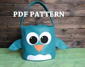 Chick Easter Basket PDF Pattern Bird