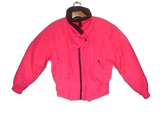 Vintage Ski Jacket Neon Pink Obermeyer Women's Medium