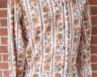 Vintage Women's Tagless Long Sleeve Blouse