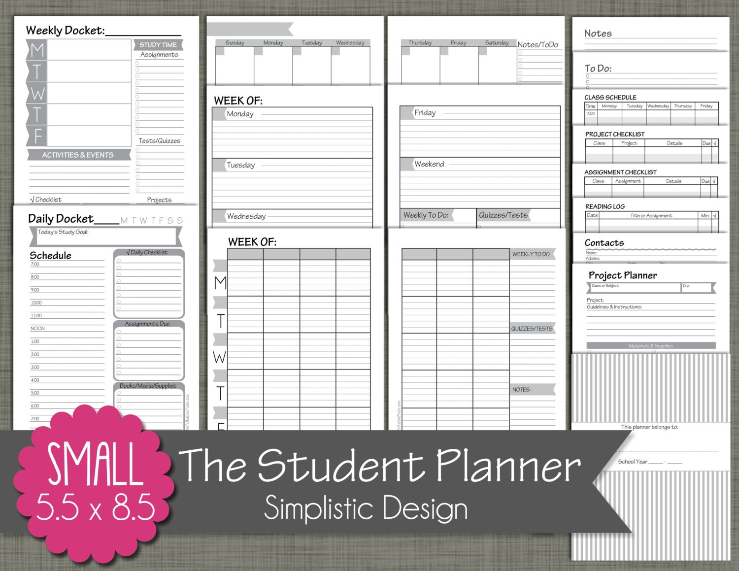 il_fullxfull.634779969_sa3d Weekly Homework Planner Pages on scrapbook planner pages, do it yourself planner pages, weekly work planner pages, student planner pages, weekly schedule planner pages, printable planner pages,