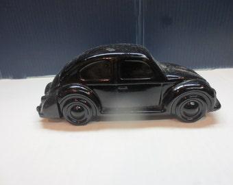 Vintage Avon Old Black Volkswagen Beetle Bug Bottle Decanter
