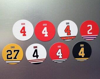 Bobby Orr Jersey Magnet Set Boston Bruin Chicago