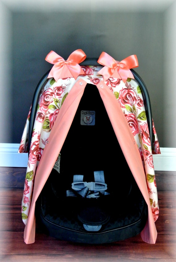 Items Similar To SHABBY CHIC Carseat Canopy Car Seat
