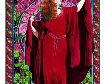 Stevie Nicks White-winged Dove art nouveau poster