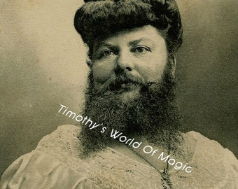 Vintage 1800's Freak Show Photo Bearded Lady Madame Delait 5 x 7...FREESHIPPING!!!