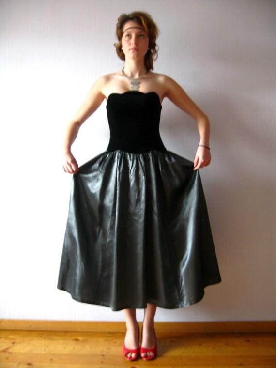 laura ashley dress black velvet grey taffeta maleficent dress