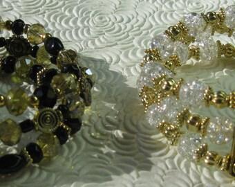 Triple Strand Beaded Bracelets