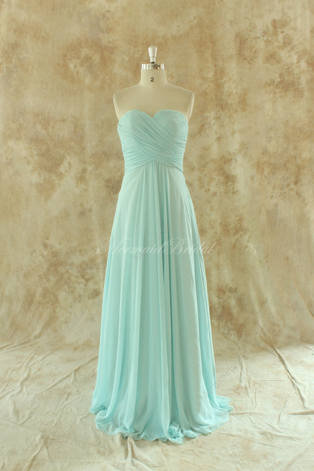 Blue Wedding Dress Simple : Simple mint blue bridesmaid dress prom gown with by mermaidbridal