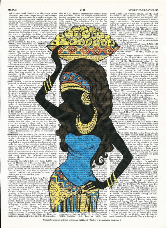 Dictionary Art Print African Woman on Upcycle Vintage Page Book Print Art Print Dictionary Print Collage Print
