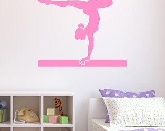 Gymnast Wall Sticker, Gymnastics Wall Decals, Sport Wall Art, Girls Bedroom  Wall Transfers - SP010
