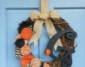 NEW Halloween Grapevine Wreath
